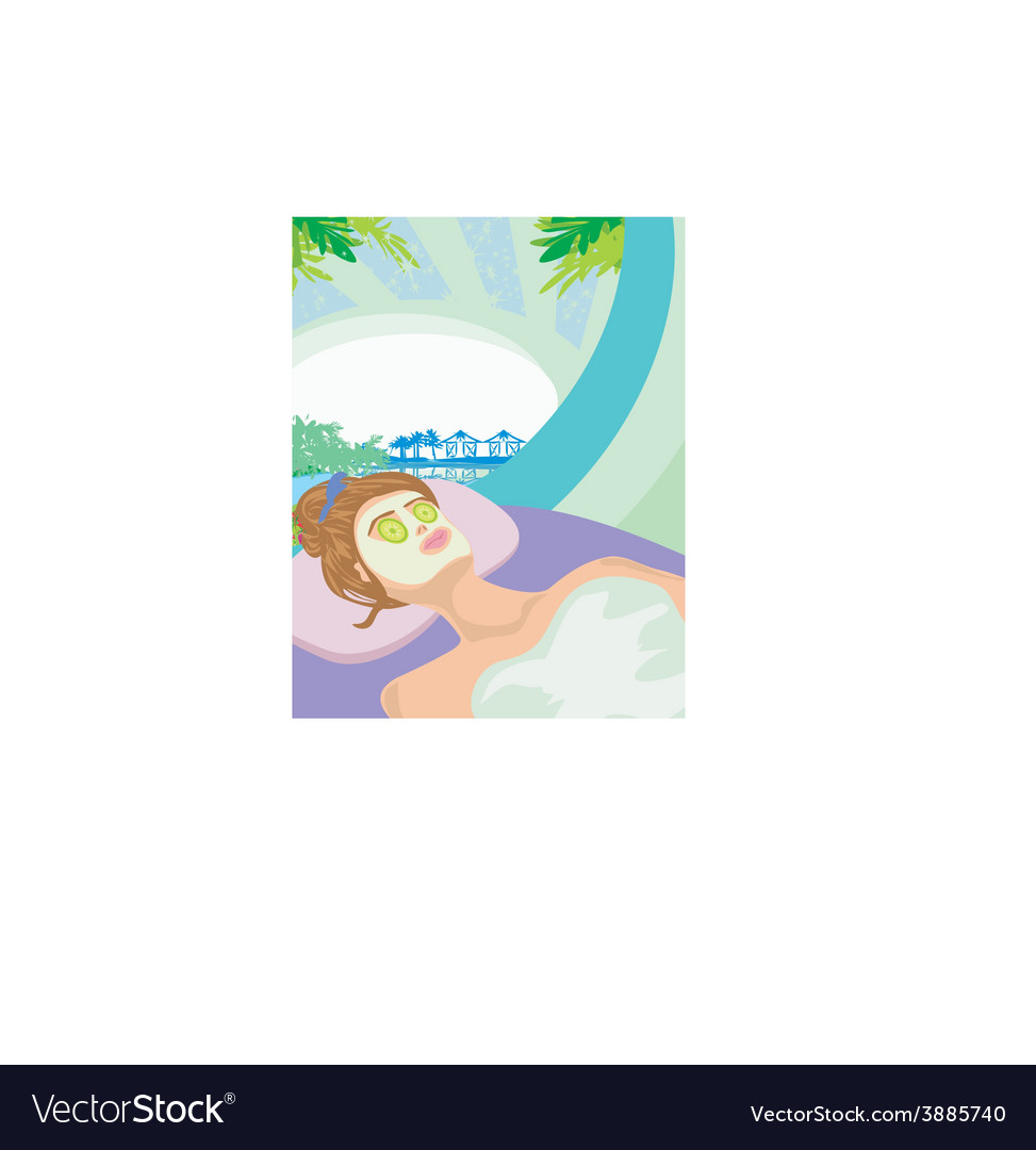 Relax in a tropical spa vector | Price: 1 Credit (USD $1)