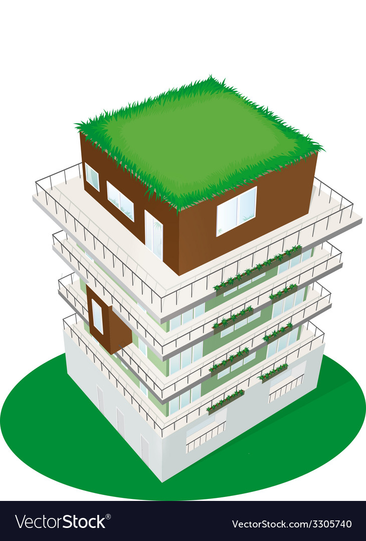 Top view of a building vector | Price: 1 Credit (USD $1)