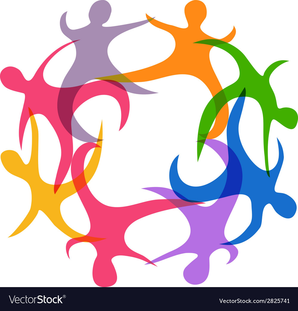 Abstract teamwork symbol vector | Price: 1 Credit (USD $1)