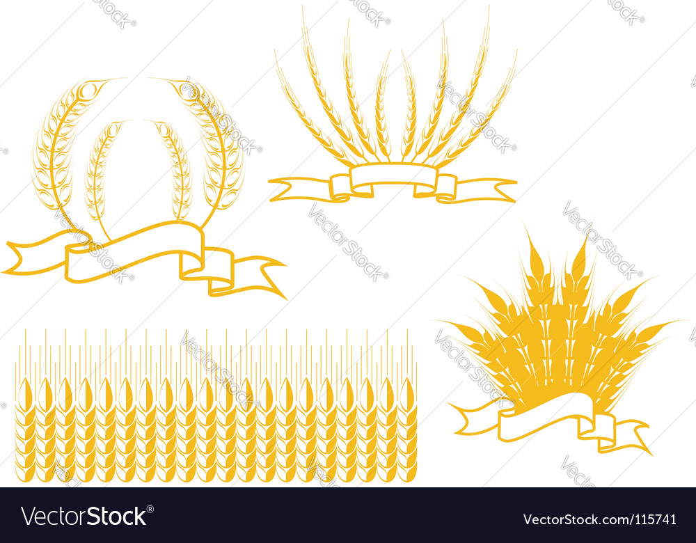 Agriculture symbols vector | Price: 1 Credit (USD $1)