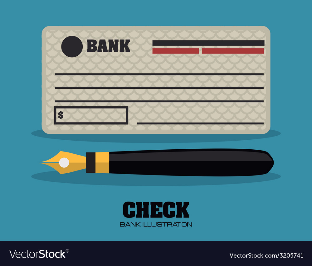 Check bank design vector | Price: 1 Credit (USD $1)