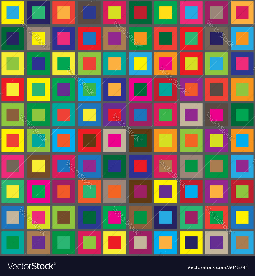 Colors squares seamless abstract pattern vector | Price: 1 Credit (USD $1)