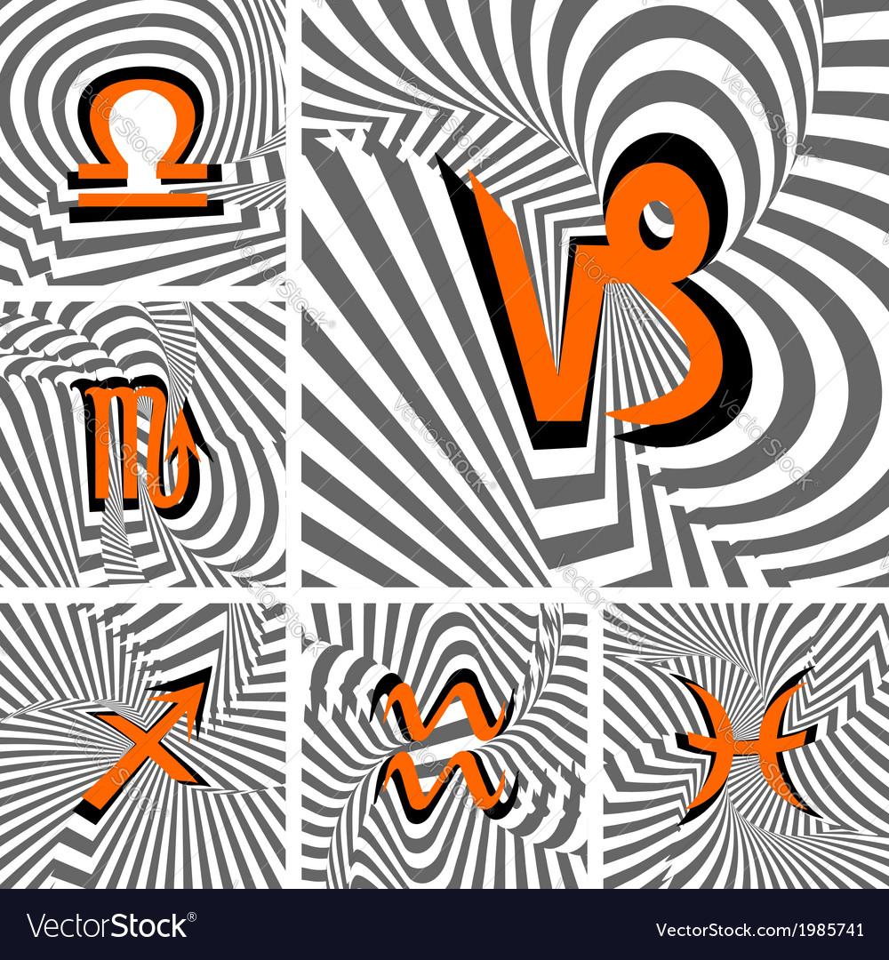 Design set of zodiac icons vector   Price: 1 Credit (USD $1)