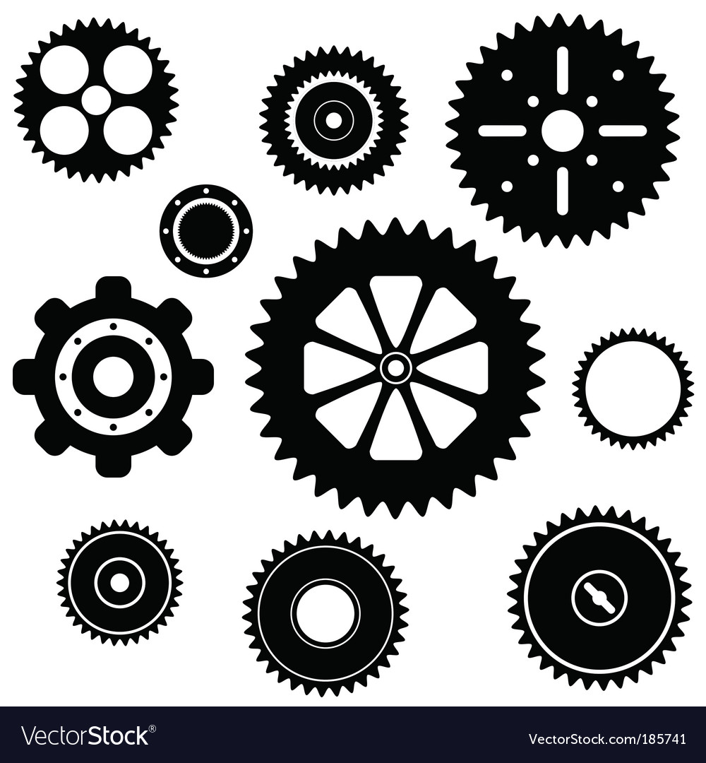 Industrial gear wheel set vector | Price: 1 Credit (USD $1)