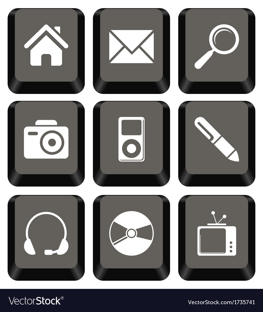 Keyboard icon set vector | Price: 1 Credit (USD $1)
