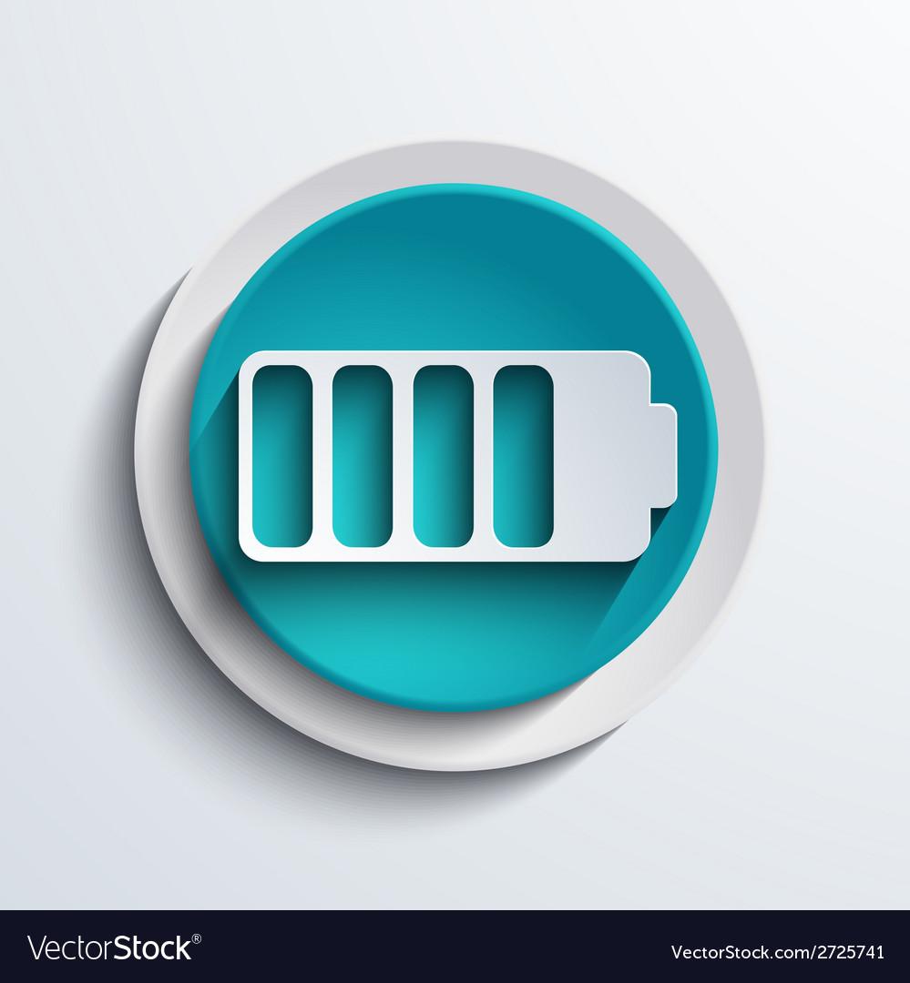 Modern blue circle icon web element vector | Price: 1 Credit (USD $1)