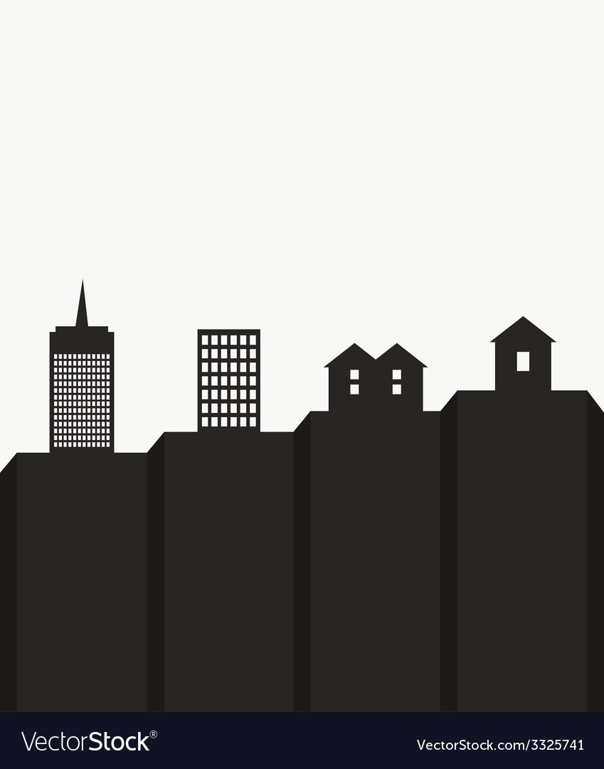 Modern cityscape template vector | Price: 1 Credit (USD $1)