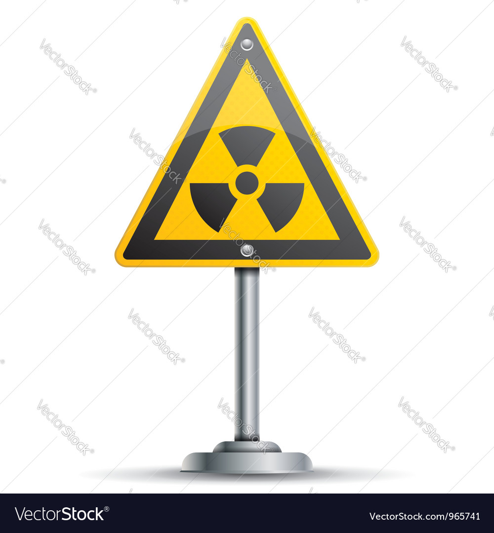 Pole with warning sign vector | Price: 1 Credit (USD $1)