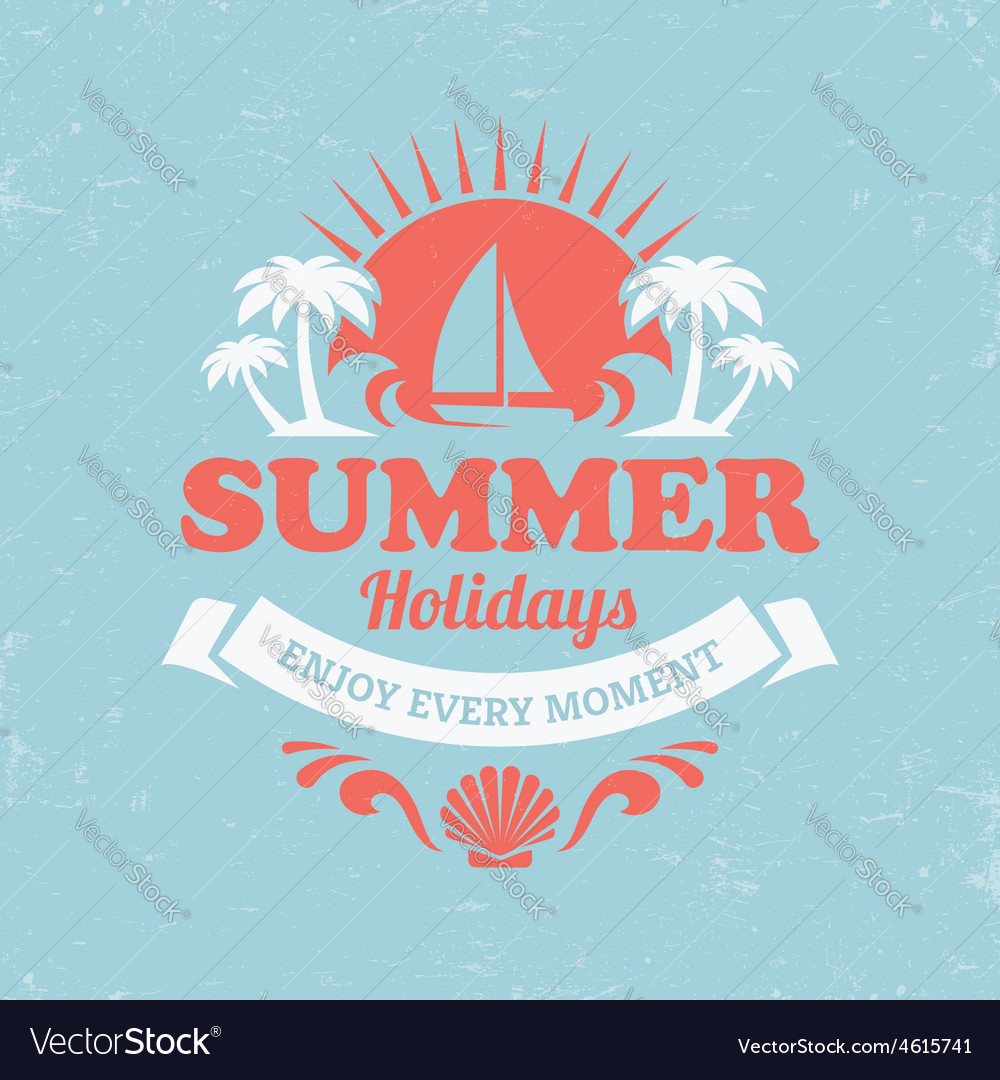 Retro summer poster vector | Price: 1 Credit (USD $1)