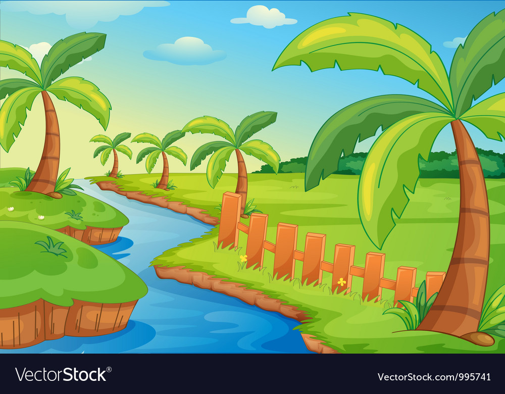 Rural landscape vector | Price: 3 Credit (USD $3)