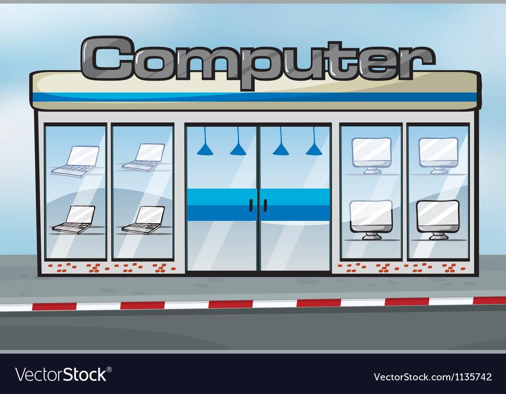 A computer shop vector | Price: 1 Credit (USD $1)