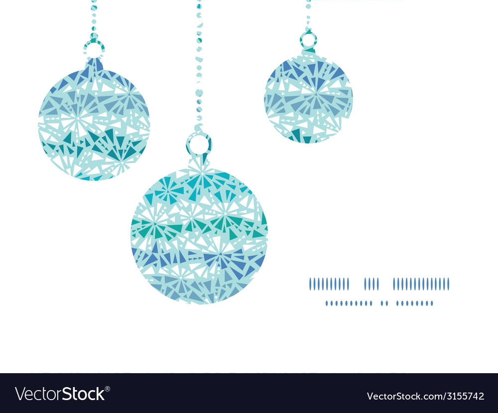 Abstract ice chrystals texture christmas ornaments vector | Price: 1 Credit (USD $1)