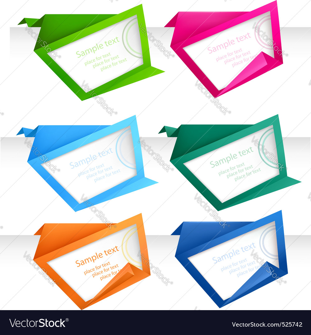 Abstract origami speech bubble vector   Price: 1 Credit (USD $1)