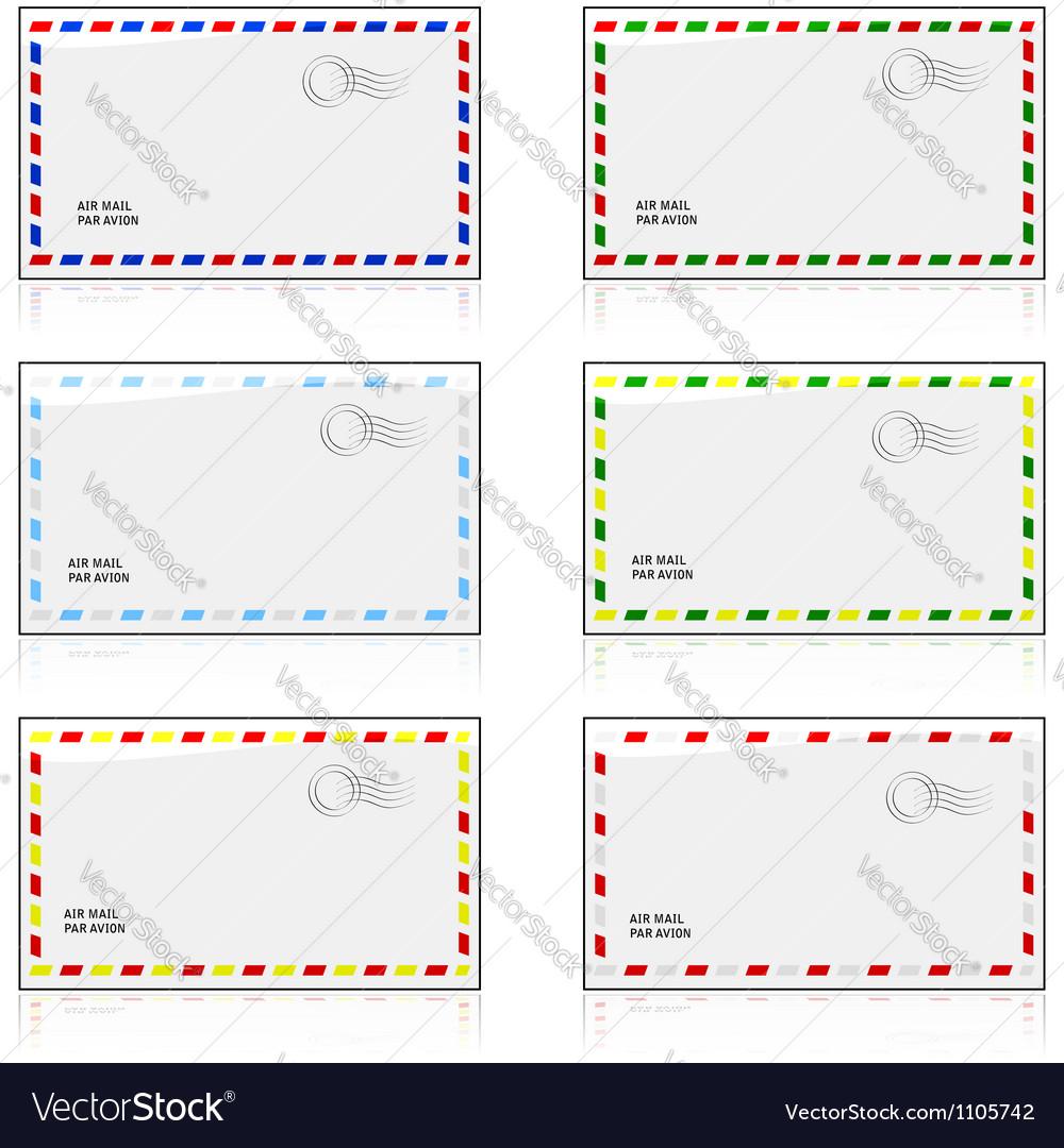 Air mail envelopes vector   Price: 1 Credit (USD $1)