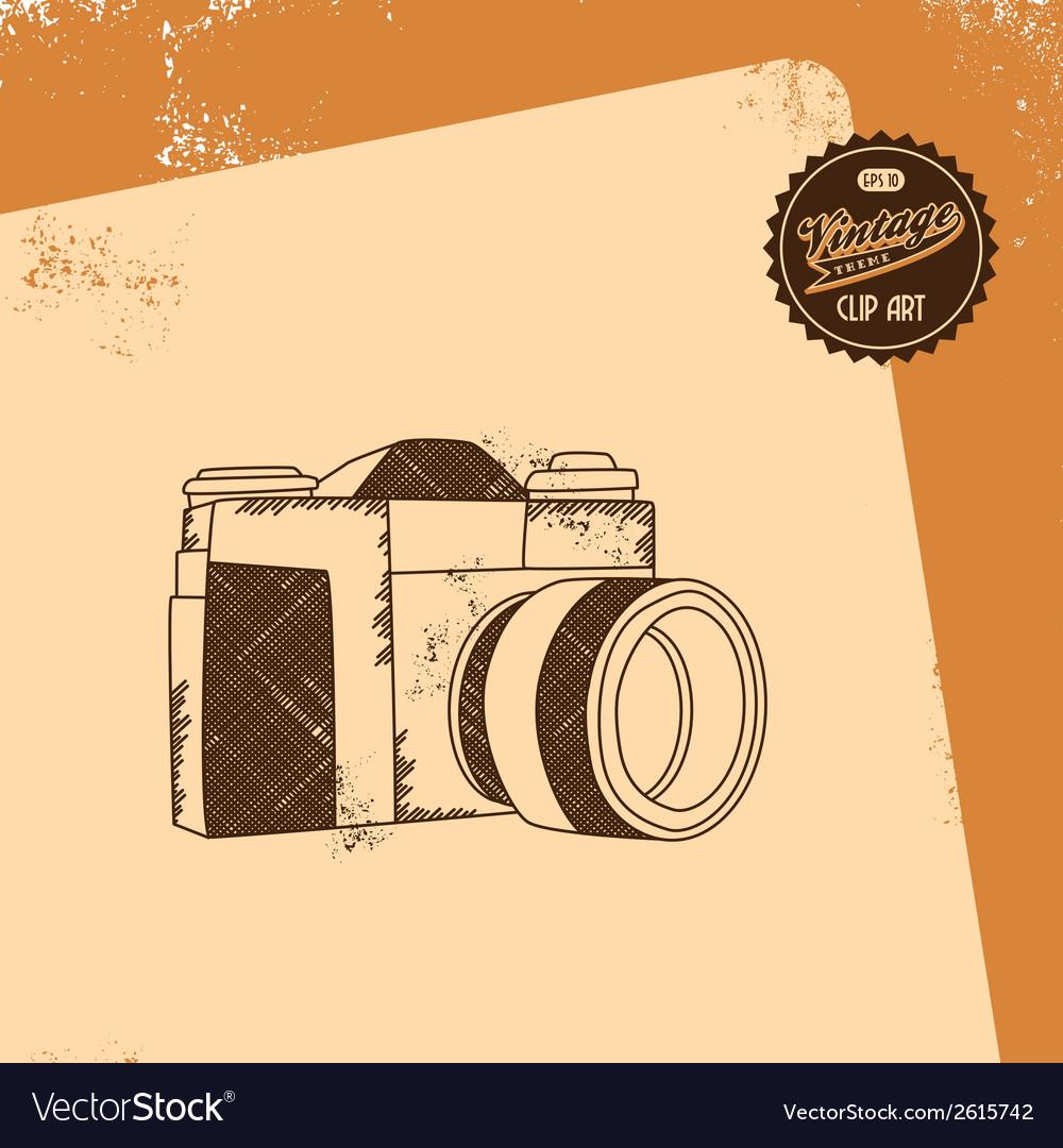 Camera design element vector | Price: 1 Credit (USD $1)