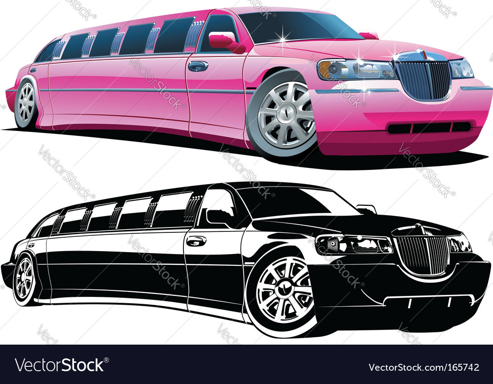 Cartoon limousine vector | Price: 3 Credit (USD $3)