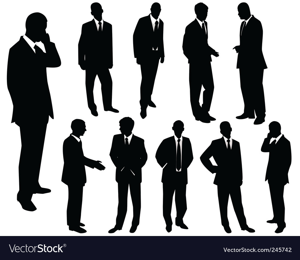 Collection of businessmen vector | Price: 1 Credit (USD $1)