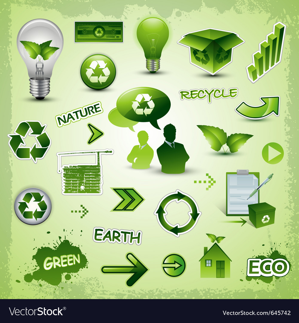 Environment icons concept vector | Price: 1 Credit (USD $1)
