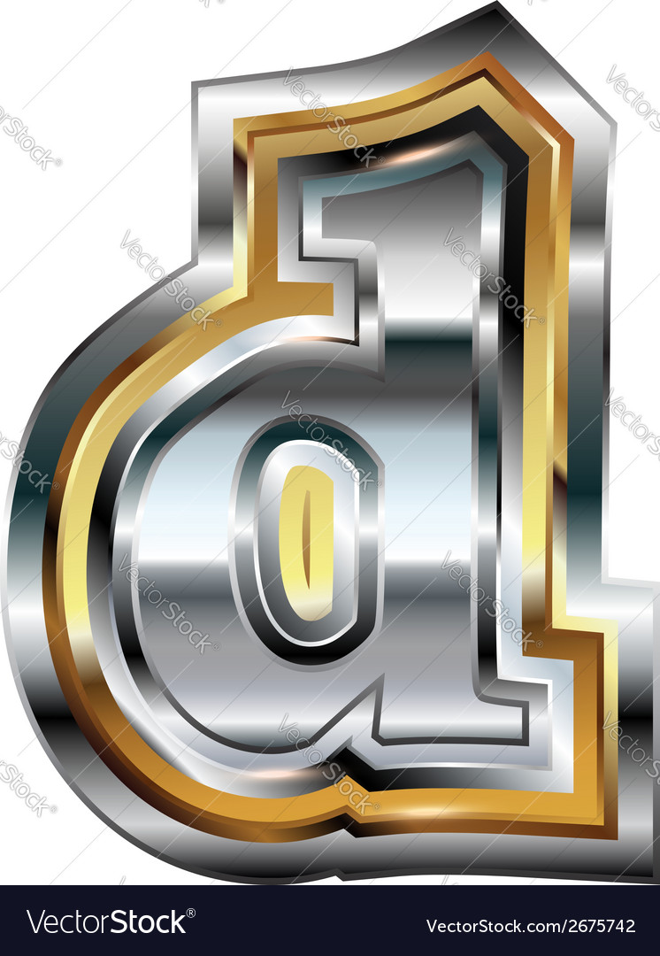 Fancy font letter d vector | Price: 1 Credit (USD $1)