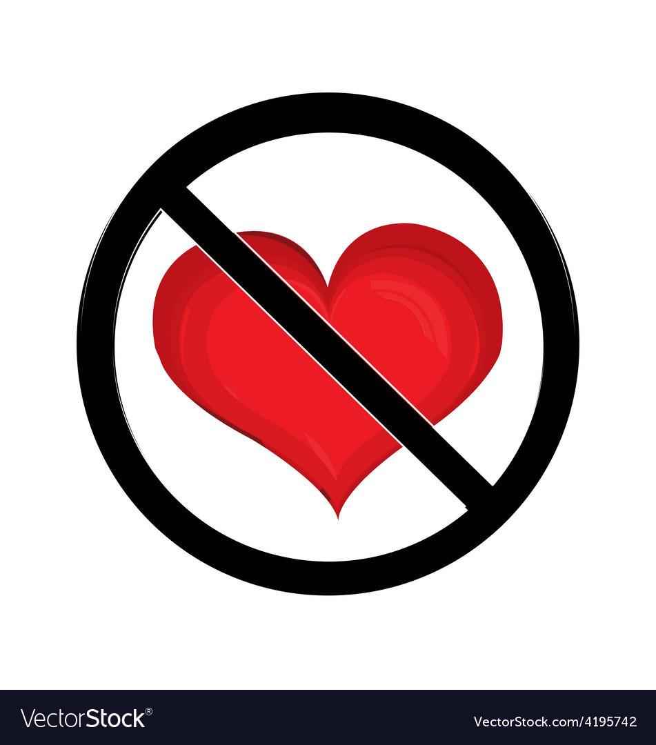 No love sign vector | Price: 1 Credit (USD $1)