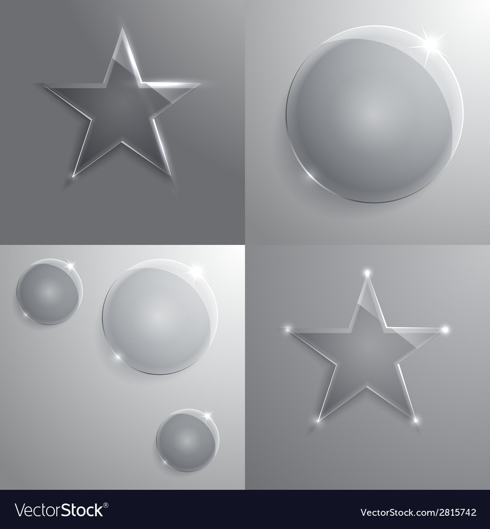 Set of round glass frame with place for your text vector | Price: 1 Credit (USD $1)