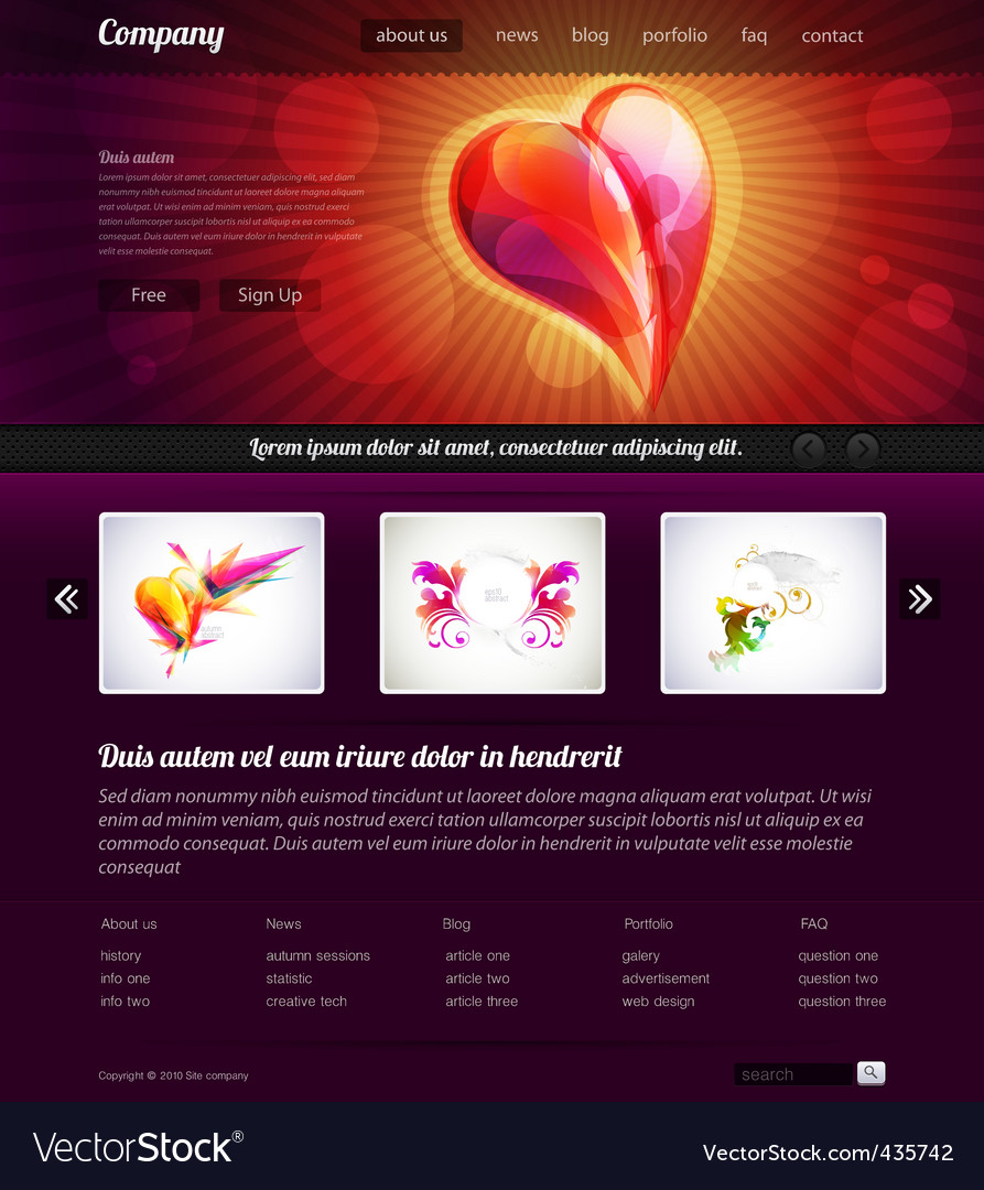 Web site design template vector | Price: 3 Credit (USD $3)