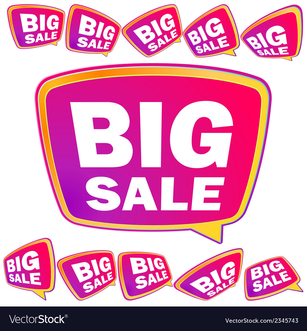 3d big sale tags  eps8 vector | Price: 1 Credit (USD $1)