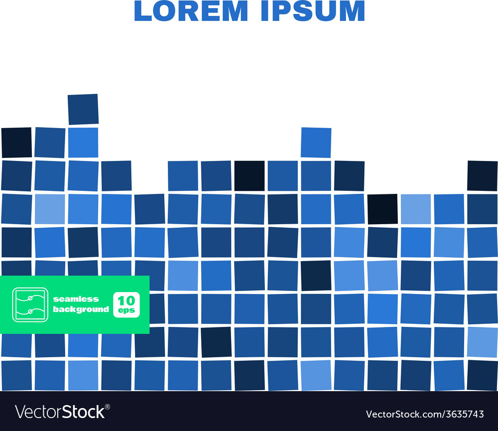 Abstract squares seamless background vector | Price: 1 Credit (USD $1)