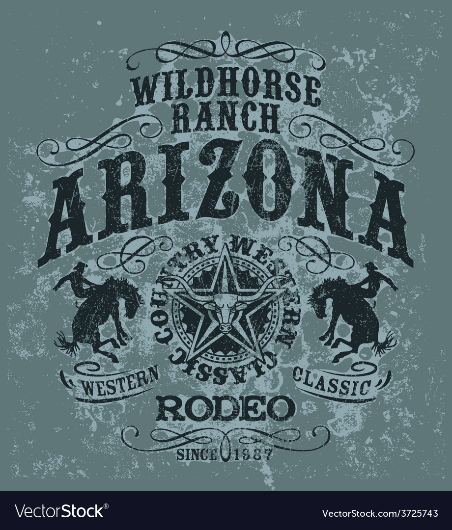 Arizona wild horse rodeo vector | Price: 1 Credit (USD $1)