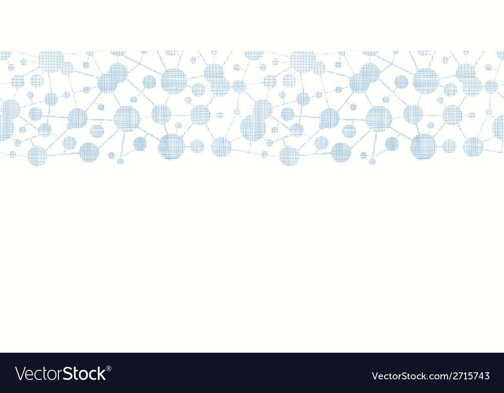 Blue molecules testile texture horizontal seamless vector | Price: 1 Credit (USD $1)