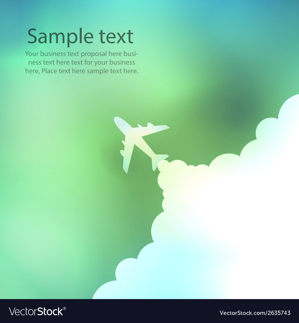 Cartoon plane launch on background vector | Price: 1 Credit (USD $1)