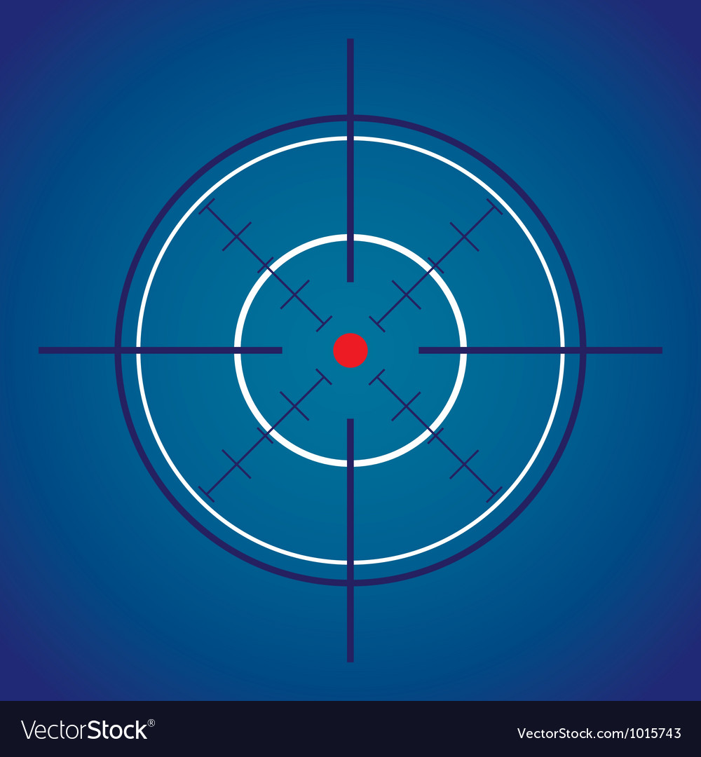 Crosshair target vector | Price: 1 Credit (USD $1)