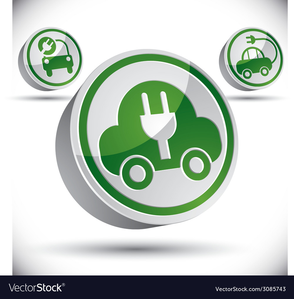 Electric car 3d icon vector   Price: 1 Credit (USD $1)