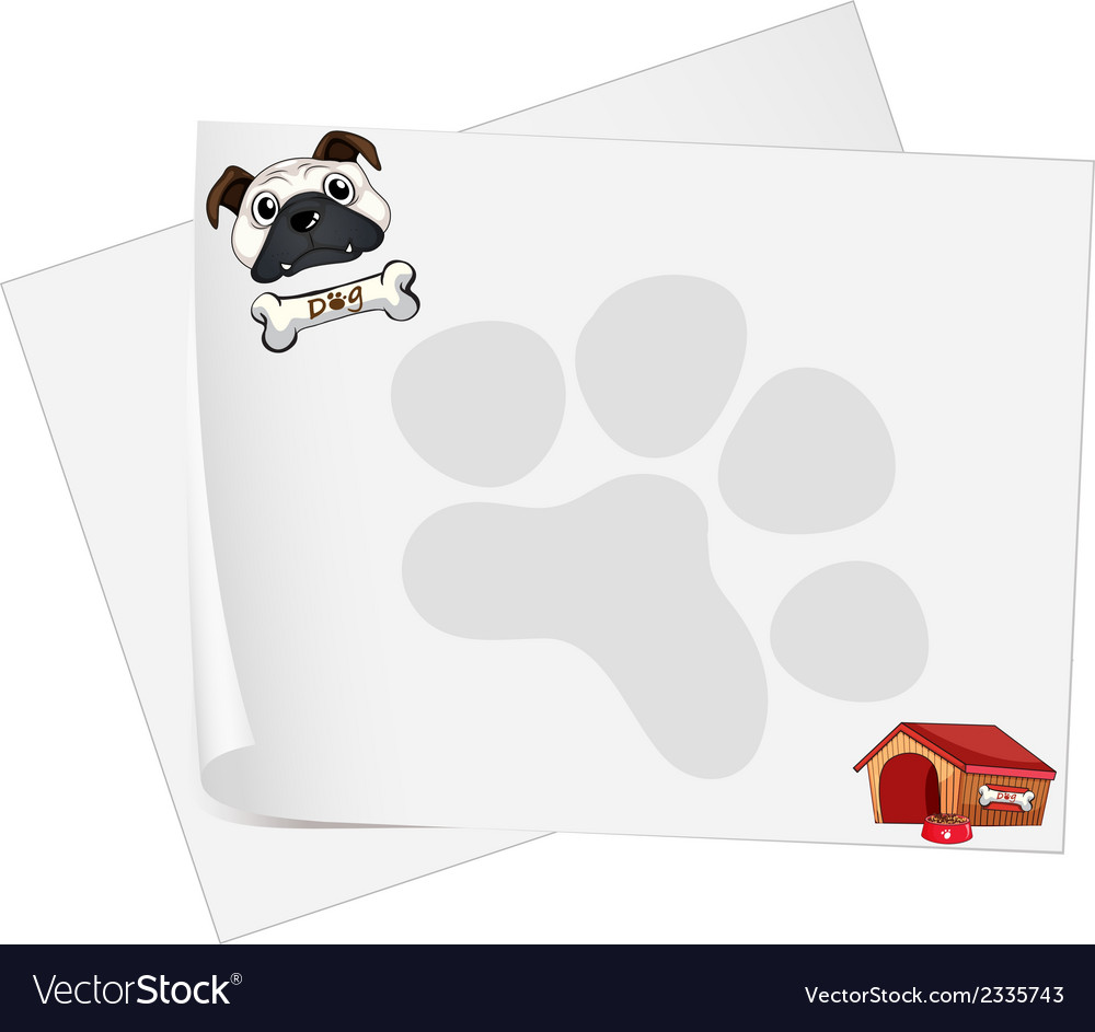 Empty papers with a dog vector | Price: 1 Credit (USD $1)