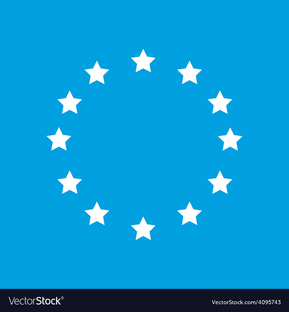 European union white icon vector | Price: 1 Credit (USD $1)