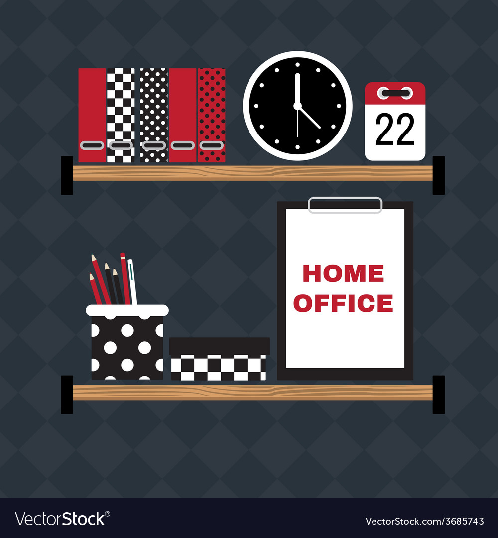 Flat of hipster home office workplace vector | Price: 1 Credit (USD $1)