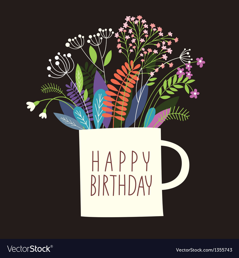 Greetings card happy birthday vector | Price: 1 Credit (USD $1)