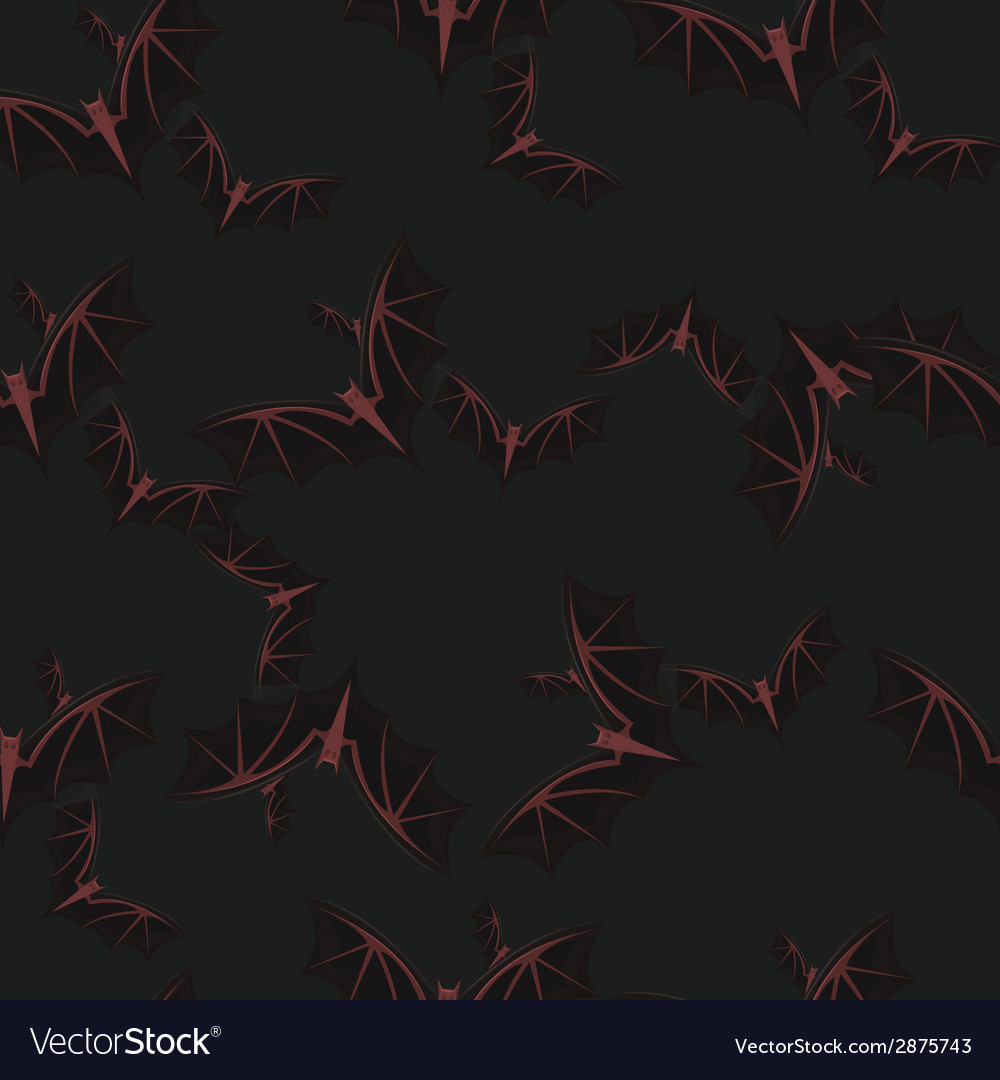 Happy halloween pattern bats vector | Price: 1 Credit (USD $1)