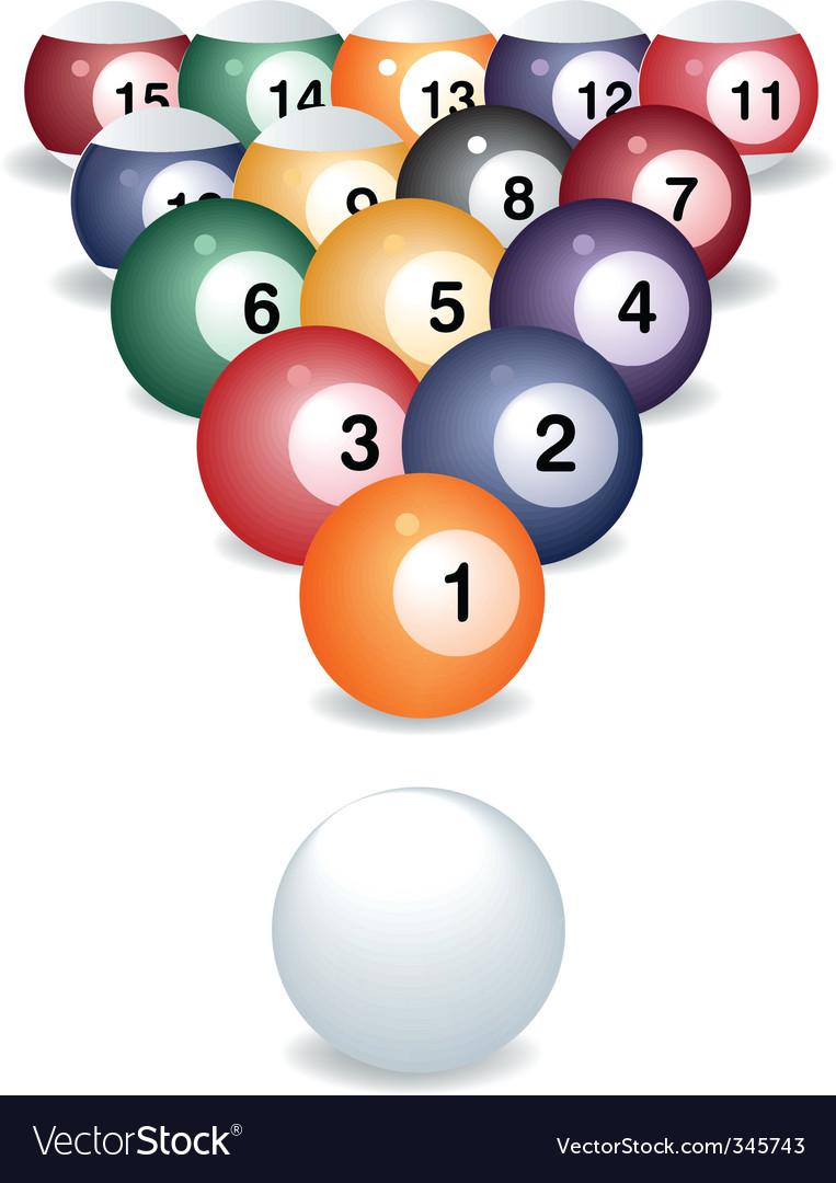 Pool game balls vector | Price: 1 Credit (USD $1)
