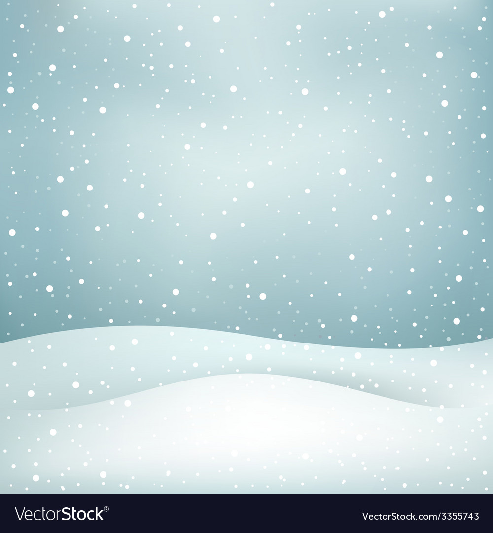 Snowfall background vector | Price: 1 Credit (USD $1)
