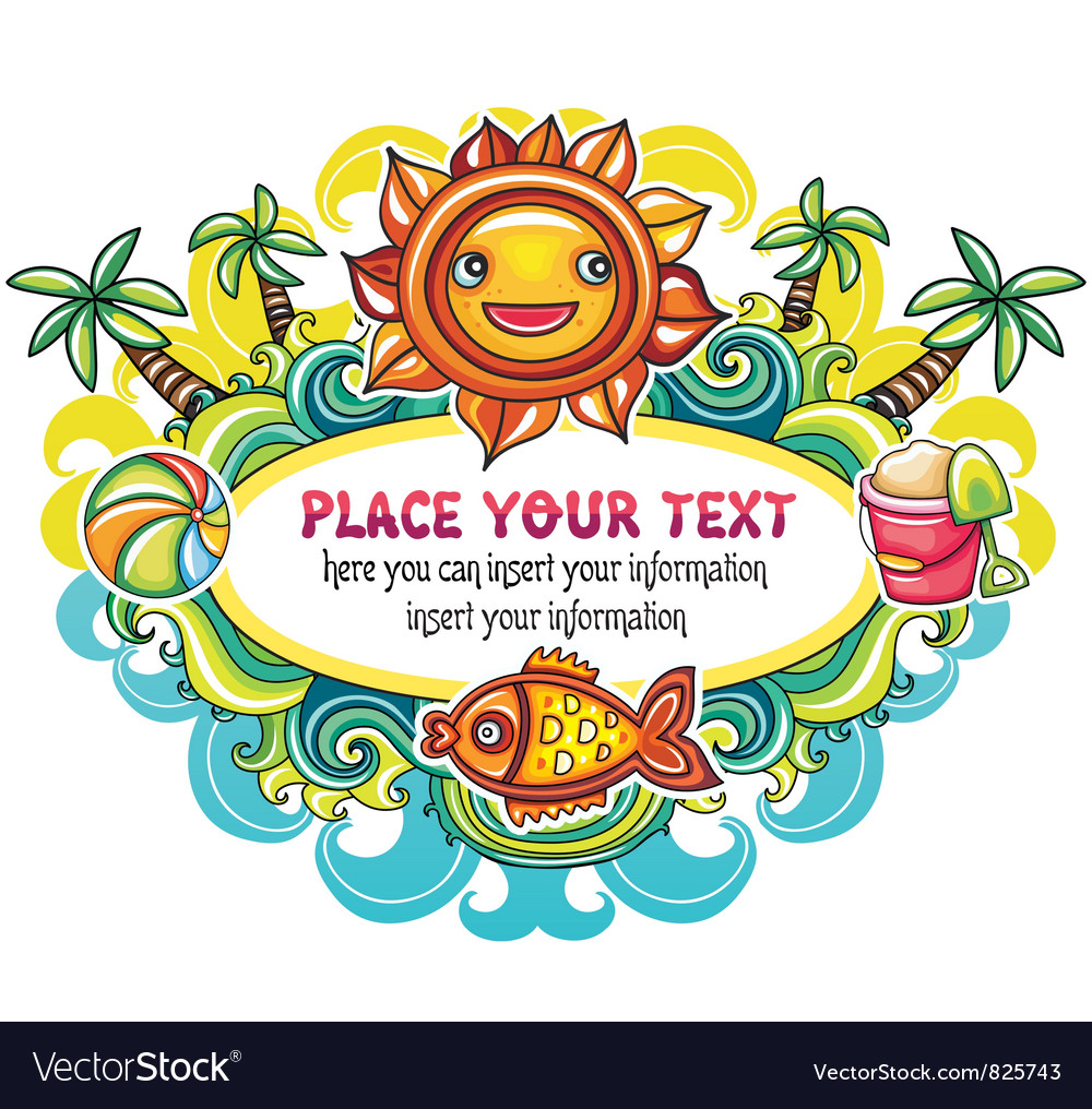 Summer mood frame vector | Price: 3 Credit (USD $3)