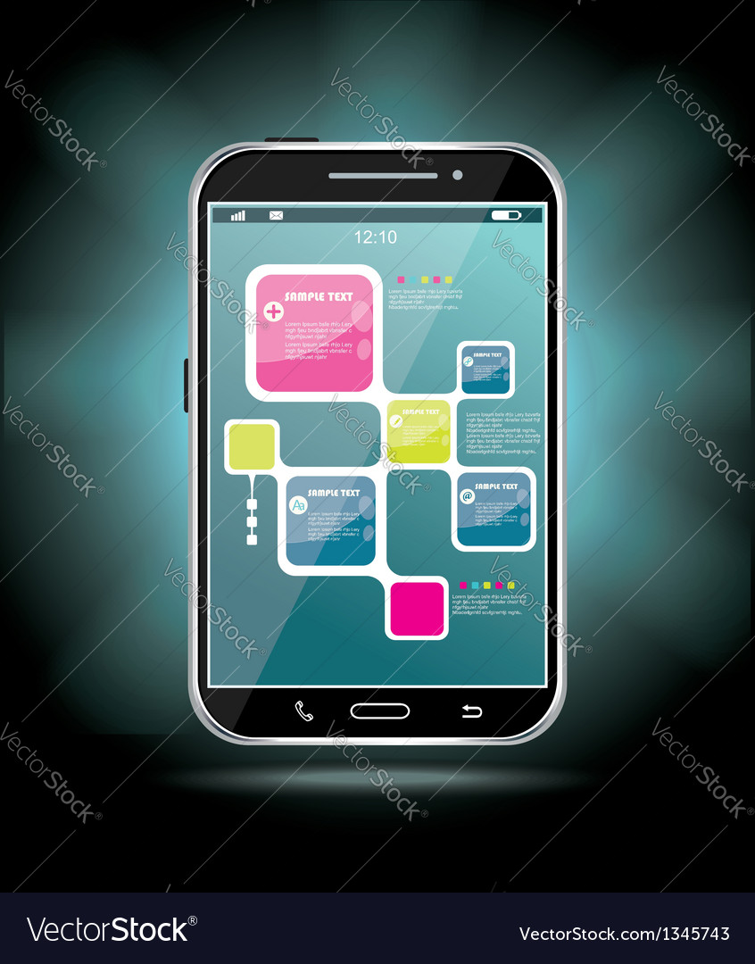 Touchscreen smartphone vector | Price: 1 Credit (USD $1)
