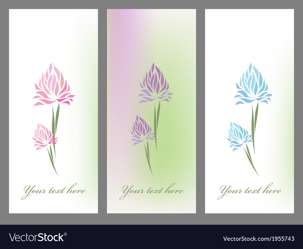 Vintage set retro flower blossom vector | Price: 1 Credit (USD $1)
