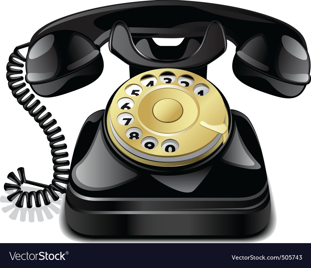 Vintage telephone vector | Price: 3 Credit (USD $3)