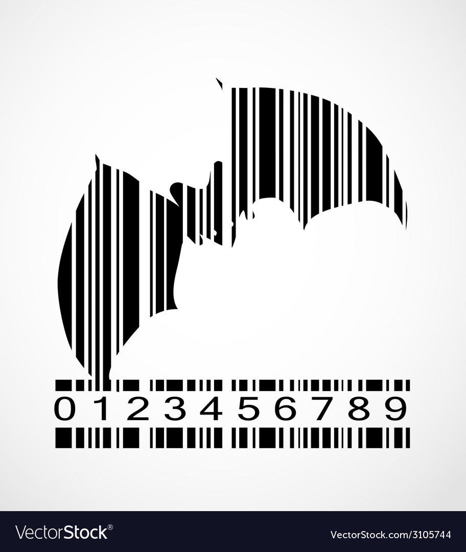 Barcode bat image vector | Price: 1 Credit (USD $1)