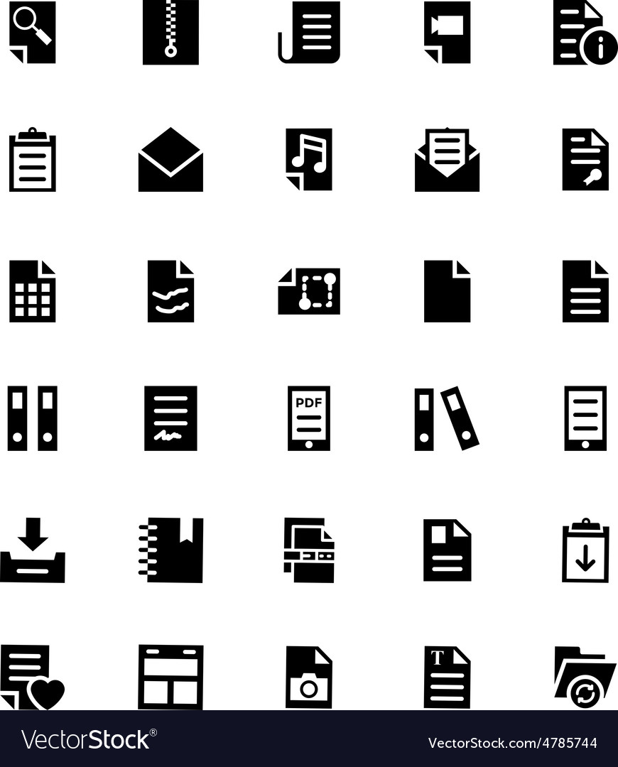 Documents icons 4 vector | Price: 1 Credit (USD $1)