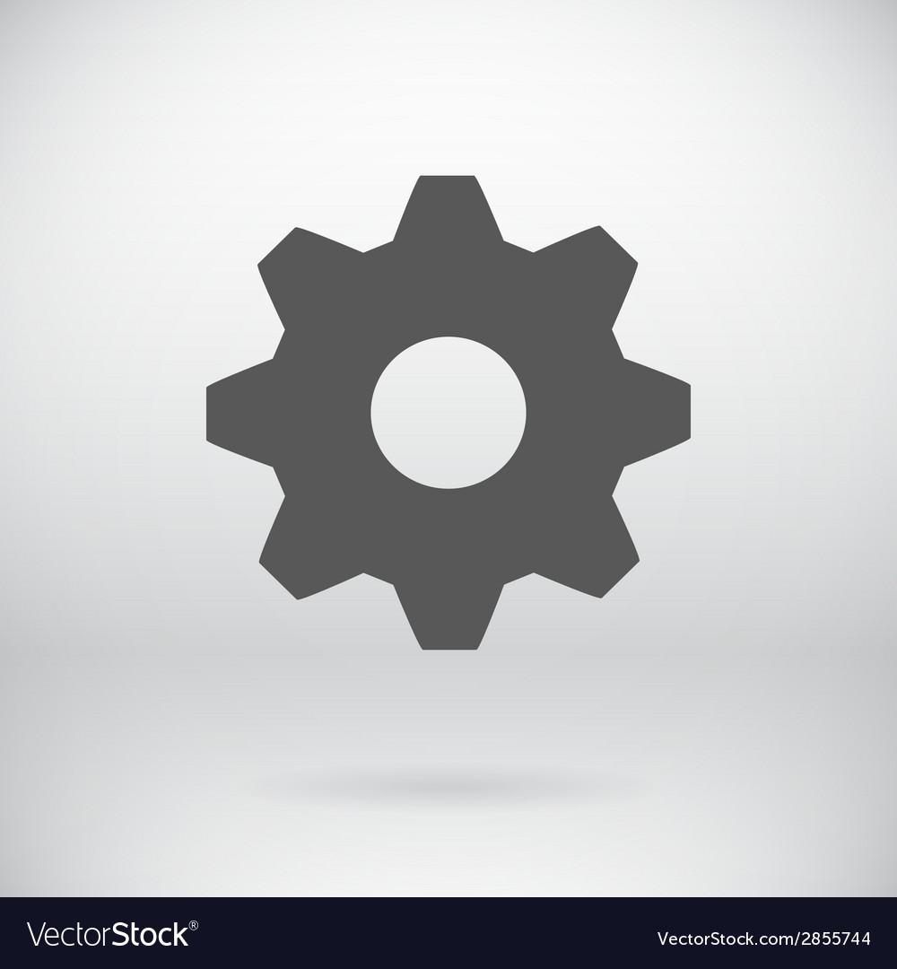 Flat settings cog sign repair key symbol vector | Price: 1 Credit (USD $1)