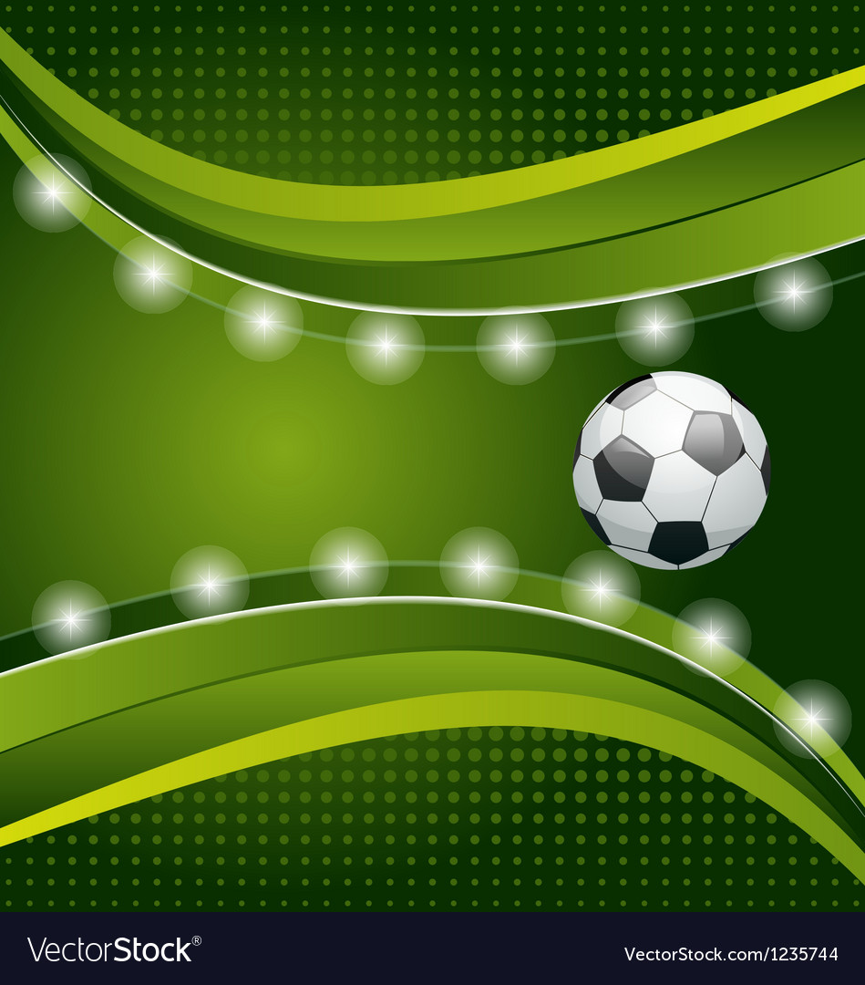 Football background with ball for design card vector | Price: 1 Credit (USD $1)