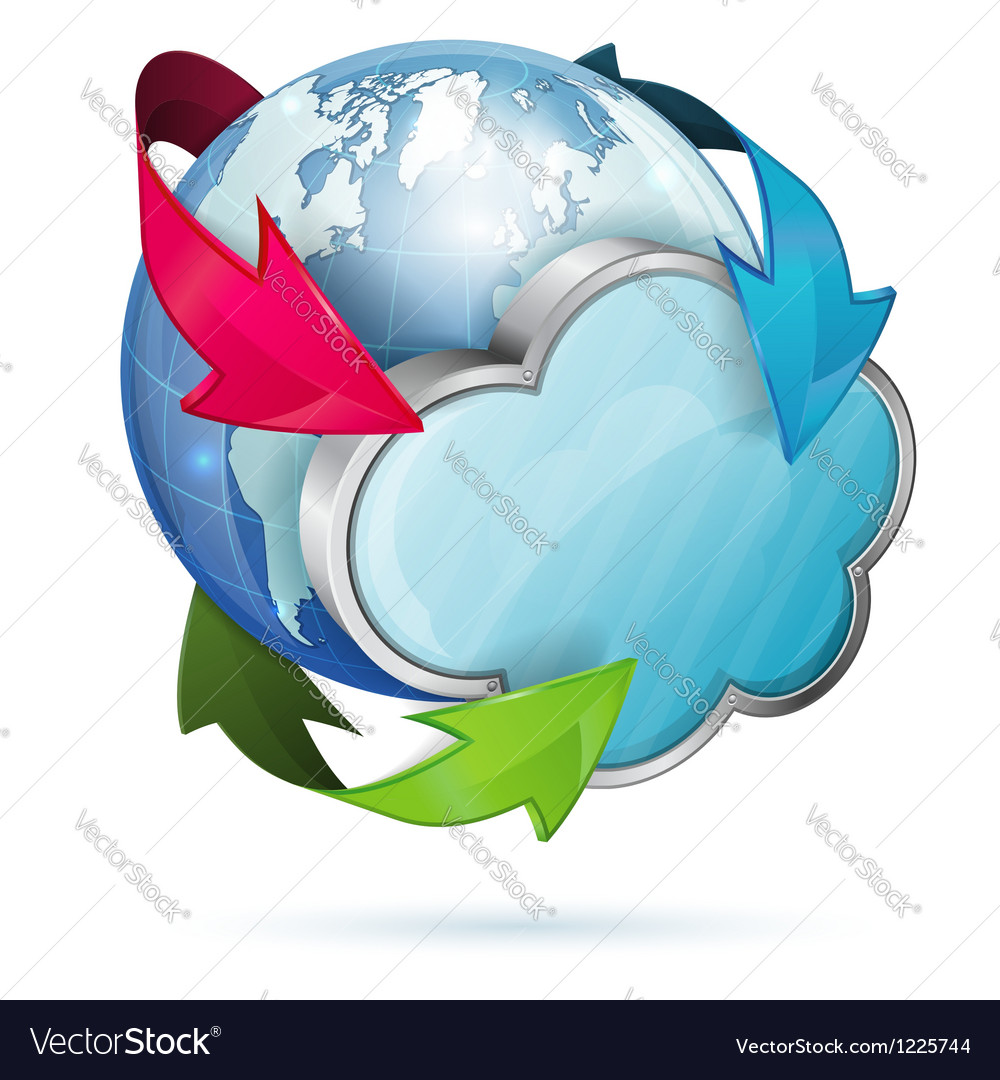 Global access and cloud computing concept vector | Price: 3 Credit (USD $3)