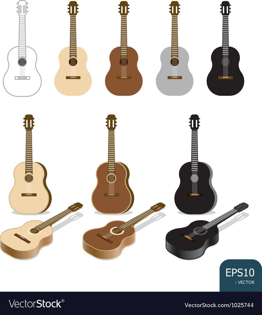 Guitar set vector | Price: 1 Credit (USD $1)